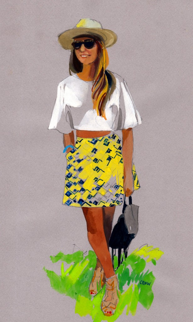 Pattern skirt Crop top