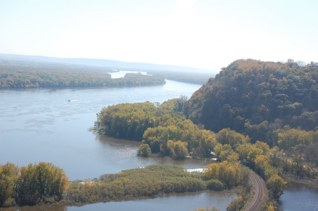 Mississippi River viewed from Pikes Peak State Park